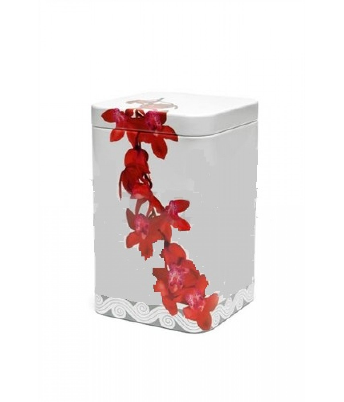 "Metal tea box ""Orchid"" - 100 g"